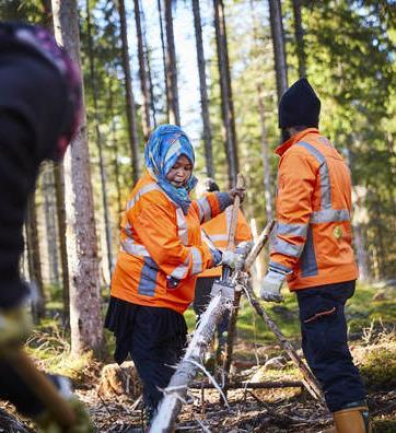 Naturnära jobb. Foto: Patrik Svedberg